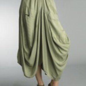 Tempo Paris Size M Linen Bubble Skirt